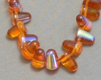 Gumdrop Beads - Topaz AB (10)