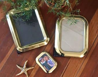 Vintage Brass Frame Collection / large photo frames / boho