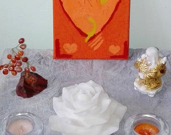 SACRAL CHAKRA Heart Painting to Reawaken Your Passion & Creativity