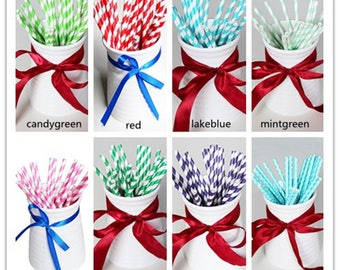 25Pcs craft Paper Drinking Straws Party Decor Wedding DIY straw Birthday Holiday(CTJZ21-PST-)