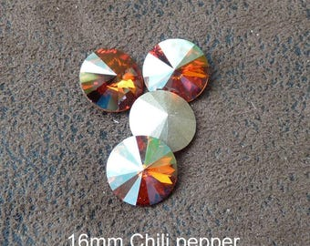 1 cabochon Austrian Crystal 1122 Chile Pepper 16mm