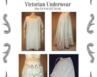 Viktorianische Unterwäsche Schittmuster #1115 Größe EU 34-56 PDF Download !!!NEU!!!