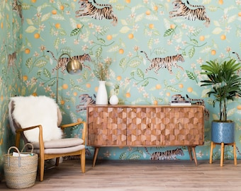 SALE Clementine Mural - Large Malayan Tigers Wallpaper