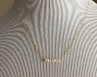 Gold, rose gold filled or sterling silver chain and bead necklace, crystal necklace