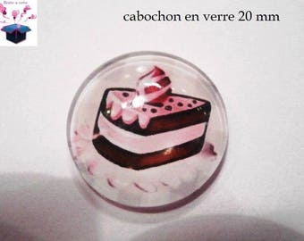 1 cabochon clear 20mm theme cake