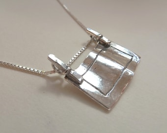 Sterling Silver Security Blanket Necklace