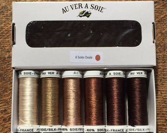 Pack of discovery oval Brown silk