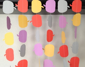 Pumpkin Paper Garland, Fall Decor, Orange.Gold.Lavender.Gray Garland, Autumn Garland, Halloween Decoration
