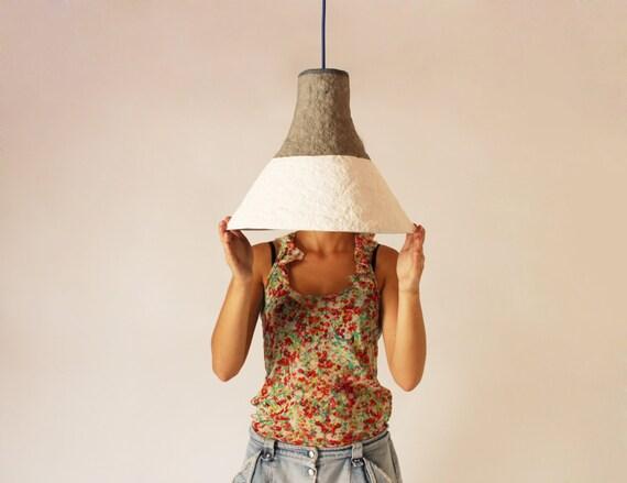 Pappmaché-Lampe Cypisek Lampe Pappmaché Hängelampe
