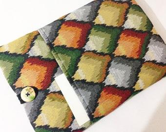 Tapestry fabric iPad Mini Sleeve, iPad Mini Case with Pocket, iPad Mini Cover Padded ,New iPad Mini 3 case,iPad Mini Sleeve Padded Case