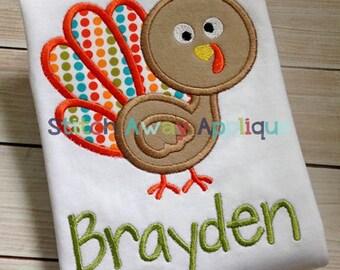 Silly Turkey Thanksgiving Machine Applique Design