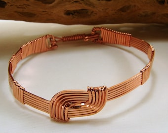 Copper Wire Wrapped Hug Bracelet - Unisex