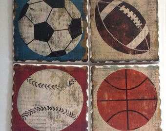 Sport Ball Coaster Set
