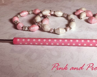 "Pink & Proud Kraft-i Roller - Paper Bead Roller / Tool from the Original Collection 1/8"" or 3/32"" - tutorial included"
