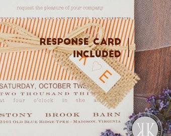 Vine Country Wedding with Burlap Band