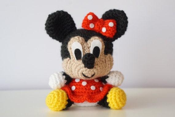 Minnie Mouse Disney Amigurumi Pattern Baby Easy Diy Pdf Crochet