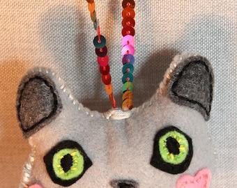 British Shorthair Cat Face Ornament