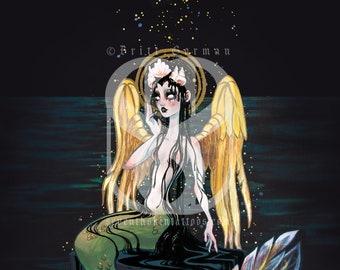 Oil Slick Mermaid Print