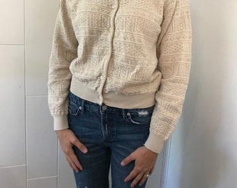 Vintage cardigan, Woman's sweater, Size small