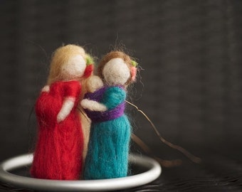 Needle Felted Babywearing Ornament