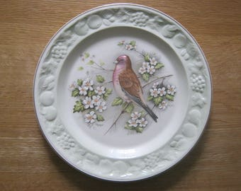 "Royal Worcester Spode Palissy ""Linnet"" Decorative Plate"