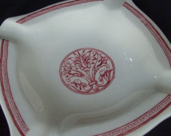 "Antique Dunn Bennett Ironstone Ashtray ""Anthemion"" Pattern Burslem England"