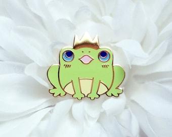 Frog Prince Enamel Lapel Pin