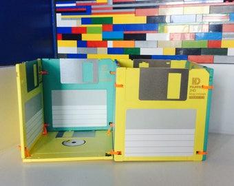 Floppy Disk Cube Organizer