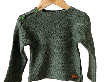Baby boy khaki green sweater