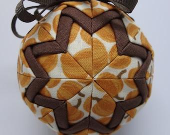 Quilted Fabric Ornament Fall Autumn Pumpkin