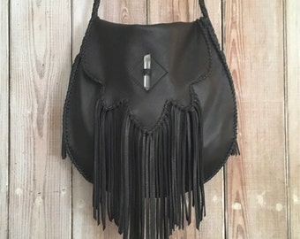 Sierra Fringe Bag with Crystal or Concho