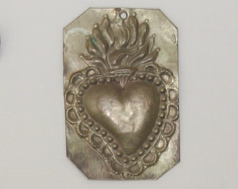 Vintage Milagro // Mexican Milagros // Heart Milagro // Sacred Heart // SHIPS FREE