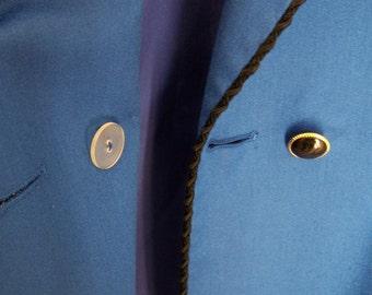 "Vintage 80's ""LIZ CLAIBORNE"" Blazer / Jacket"" in Shocking Blue Black Trim Size 12"