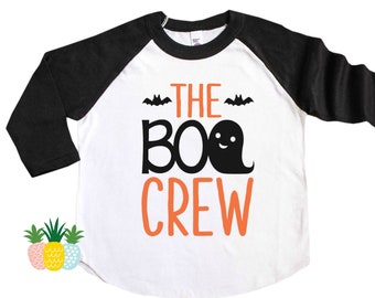 Kid's Halloween Shirt - Trick of Treat Shirt - Boo Crew Shirt - Girl's Halloween Tee - Boy's Halloween Shirt - Halloween Raglan Outfit