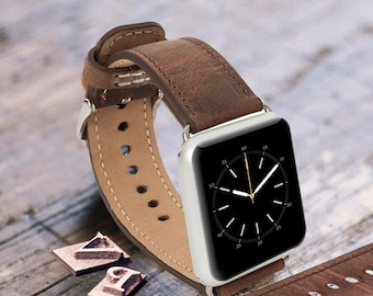 Leather Apple Watch band 42mm 38mm, Leather watch band Apple watch strap, iwatch band Apple watch leather band brown iwatch strap
