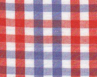 CLEARANCE - Fabric Finders Orange and Purple Check Fabric - T92 - NEW!! - 1 Yard by 60 inches