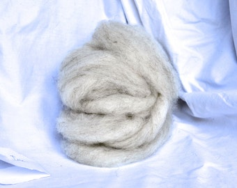 "Light Grey Undyed Shetland Roving / 4oz ball from ""Ink"""