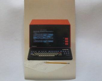 Lexis Nexis UBIQ Terminal Postcard Computer Advertising PC History Mead Data 1980 desktop personal computer