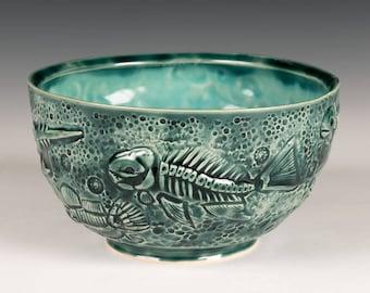 Celadon Fossil Bowl
