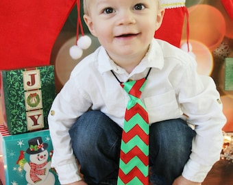 Little boys Christmas holiday necktie