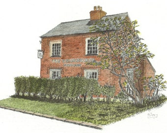 Country Pub the Weighbridge in Alvechurch Giclee print