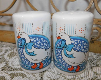 Geese Salt and Pepper Shaker Set, Salt and Pepper shakers, Country Kitchen, Farm House Kitchen,:)s*
