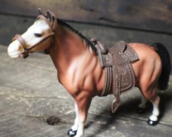 Vintage Molded Plastic Western Horse, WS Hong Kong Horse