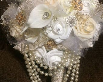 Real Touch Brooch Bouquet