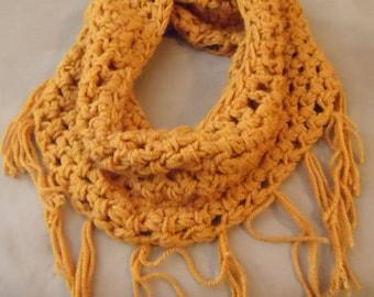 Fringed Cowl - Crochet