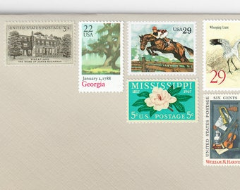 Posts (5) 3 oz wedding invitations - Traditional Southern Plantation Estate unused vintage postage stamp sets (3 ounce 92 cent rate)
