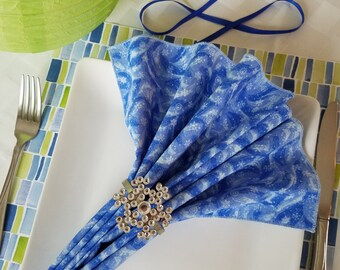Blue Swirls (6 ct)