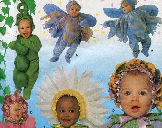 FREE US SHIP Sewing Pattern Simplicity 8273 Toddler's Costume Flower Fairy Pea Pod Size 6mo 1 2 3 4 years New Brand New