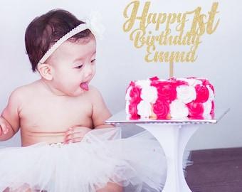 Birthday Cupcake Topper, Custom Cake Topper, 1st Birthday Cake Topper, Cake Toppers, Birthday Decor