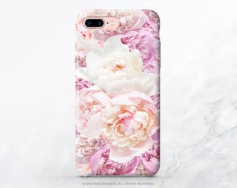 iPhone X Case iPhone 8 Case iPhone 7 Case Peonies iPhone 7 Plus iPhone 6s Case iPhone SE Case Tough Galaxy S8 Plus Case Galaxy S8 Case I159